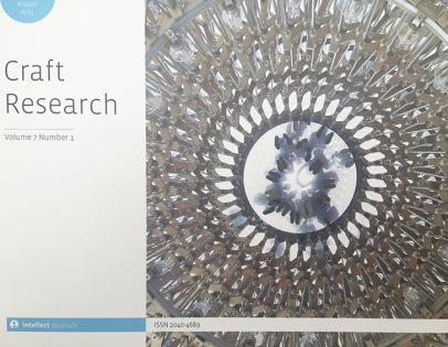 Craft Research Volume 7 number 1 Intellect journals - flockOmania Review - Zoe Robertson - Jewellery Artist