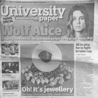 The University Paper featuring flockOmania created by Zoe Robertson image by Chrstian Kipp