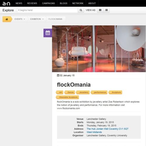 artist newsletter - flockOmania - Zoe Robertson - jewellery artist