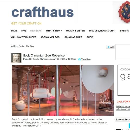 Crafthaus - flockOmania - Zoe Robertson - jewellery artist