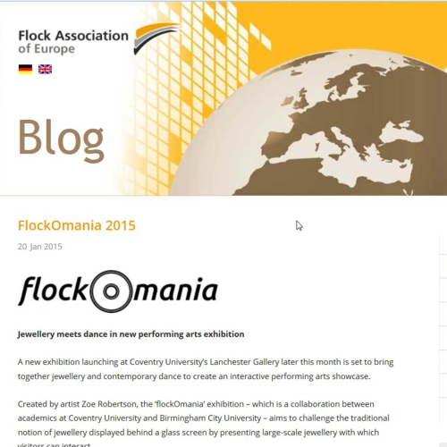 flock association of europe - flockOmania - Zoe Robertson - jewellery artist