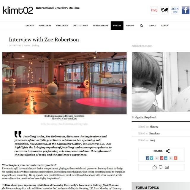 klimt02 - flockOmania -Zoe Robertson - jewellery artist