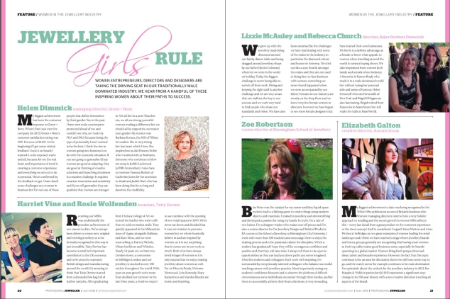 "Professional Jeweller - ""Jewellery Girls Rule"" Interview July 2013"