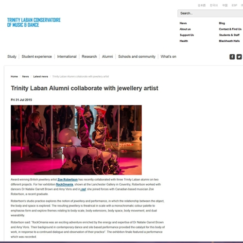 http://www.trinitylaban.ac.uk/news/latest-news/trinity-laban-alumni-collaborate-with-jewellery-artist