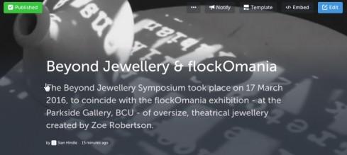 Beyond Jewellery Symposium and flockOmania