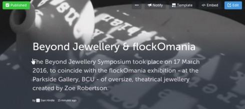 Beyond Jewellery Symposium and flockOmania