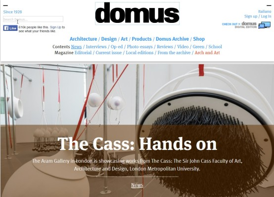 domus - The Aram Gallery - The Cass : Hands on featuring flockOmania by Zoe Robertson