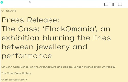 Press release The Cass: flockOmania
