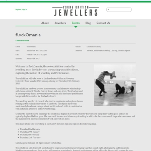 Young British Jewellers - flockOmania - Zoe Robertson - jewellery artist