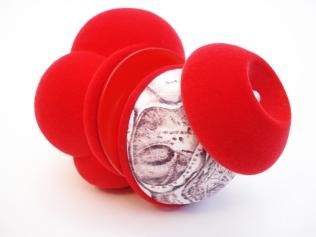 Zoe Robertson - jewellery artist - target the heart - brooches 2012