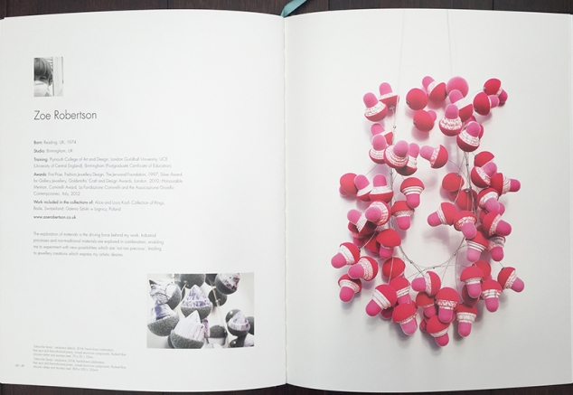 Zoe Robertson for Not Too Precious at Ruthin Crafts Centre publication 2