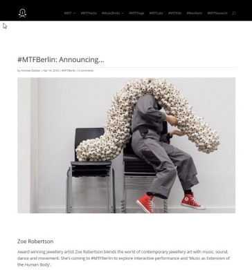 flockOmania created by Zoe Robertson showing at on #MTFBerlin http://musictechfest.net/zoe-robertson/