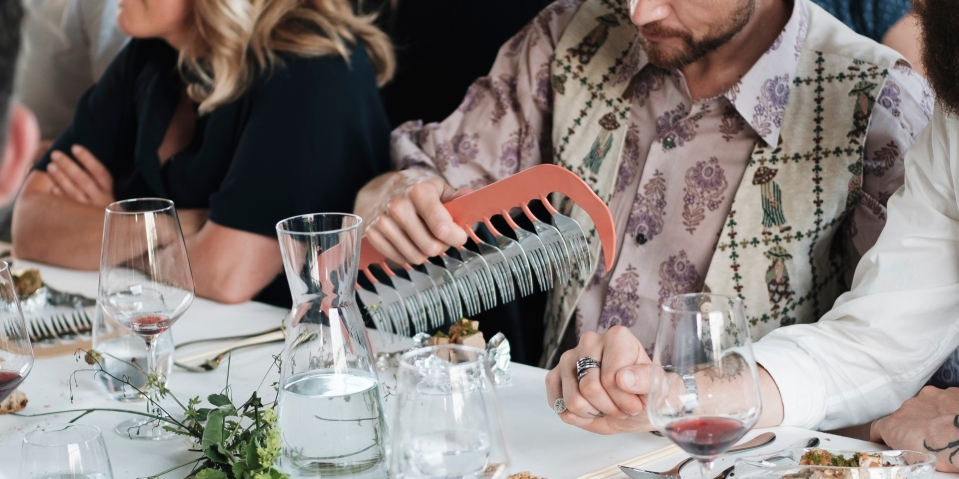 Rachael Colley_Cutlery comb at Steinbeisser, June 2019_image by Kathrin Koschitzki